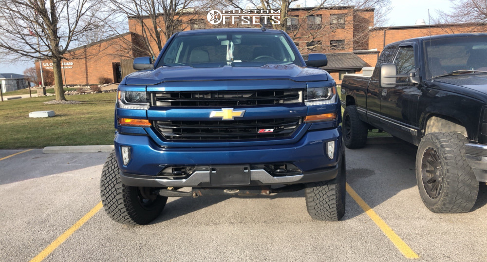 "2016 Chevrolet Silverado 1500 Super Aggressive 3""-5"" on 20x12 -51 offset Vision Sliver and 35""x12.5"" Atturo Trail Blade Xt on Suspension Lift 6"" & Body 3"" - Custom Offsets Gallery"
