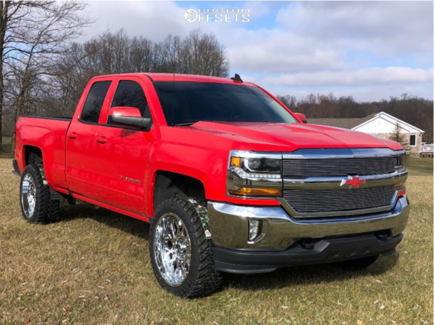 "2017 Chevrolet Silverado 1500 Slightly Aggressive on 22x10 -18 offset Vision Rocker and 33""x12.5"" Atturo Trail Blade Mt on Suspension Lift 3.5"" - Custom Offsets Gallery"