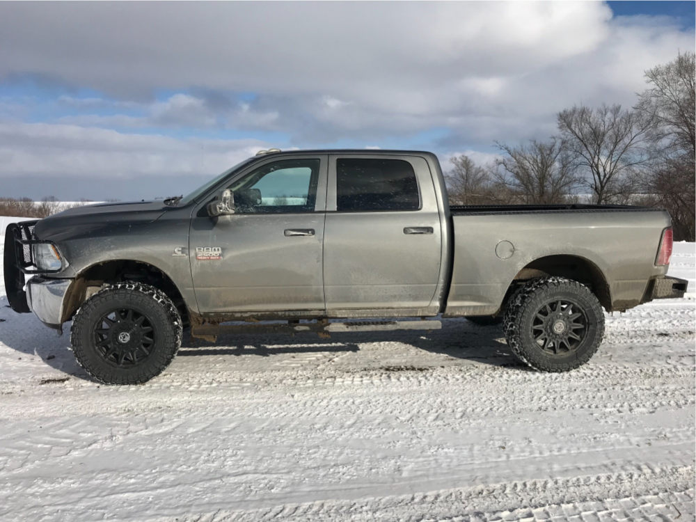 """2012 Ram 2500 Slightly Aggressive on 20x9 18 offset Anthem Off-Road Liberty and 35""""x12.5"""" Kenda Klever R/t on Leveling Kit - Custom Offsets Gallery"""