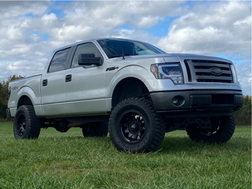 """2012 Ford F-150 Aggressive > 1"""" outside fender on 18x9 -12 offset Dirty Life Roadkill and 35""""x12.5"""" Crosswind Crosswind Mt on Suspension Lift 6"""" - Custom Offsets Gallery"""