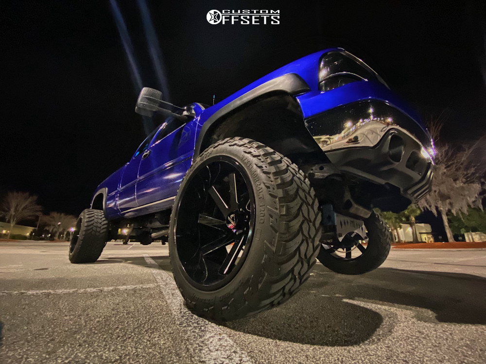 "2002 Chevrolet Silverado 1500 Super Aggressive 3""-5"" on 24x14 -51 offset Arkon Off-road Lincoln and 37""x13.5"" AMP Mud Terrain Attack Mt A on Suspension Lift 8"" - Custom Offsets Gallery"