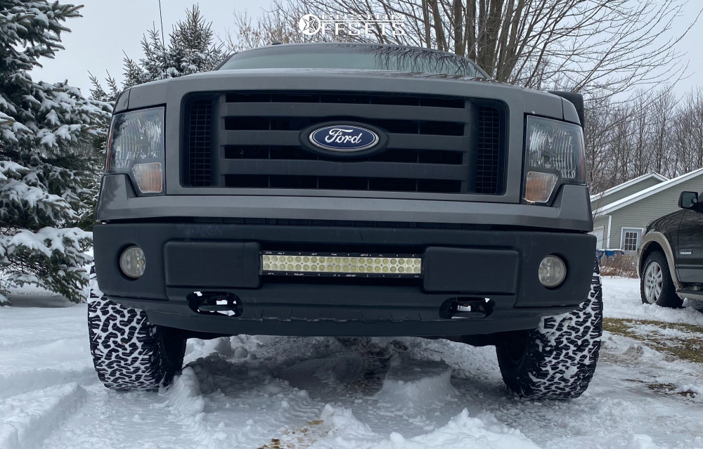 """2010 Ford F-150 Slightly Aggressive on 18x9 -18 offset XD Monster and 33""""x12.5"""" BFGoodrich All Terrain Ta Ko2 on Stock Suspension - Custom Offsets Gallery"""