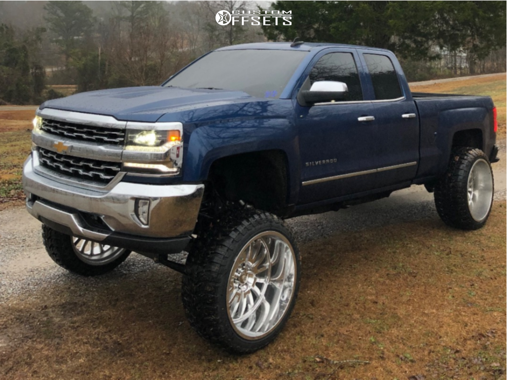 "2018 Chevrolet Silverado 1500 Super Aggressive 3""-5"" on 26x14 -76 offset Cali Offroad Summit and 37""x13.5"" Road One Aethon M/t on Lifted >12"" - Custom Offsets Gallery"