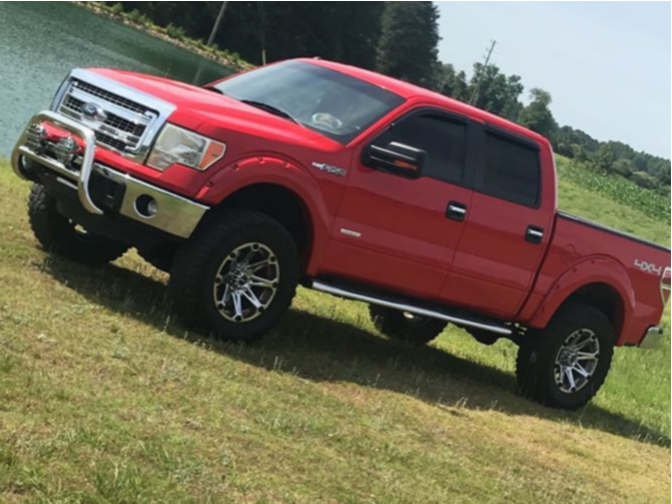 """2014 Ford F-150 Aggressive > 1"""" outside fender on 20x12 -44 offset Ballistic Jester and 37""""x12.5"""" Cooper Discoverer Stt Pro on Suspension Lift 6"""" - Custom Offsets Gallery"""