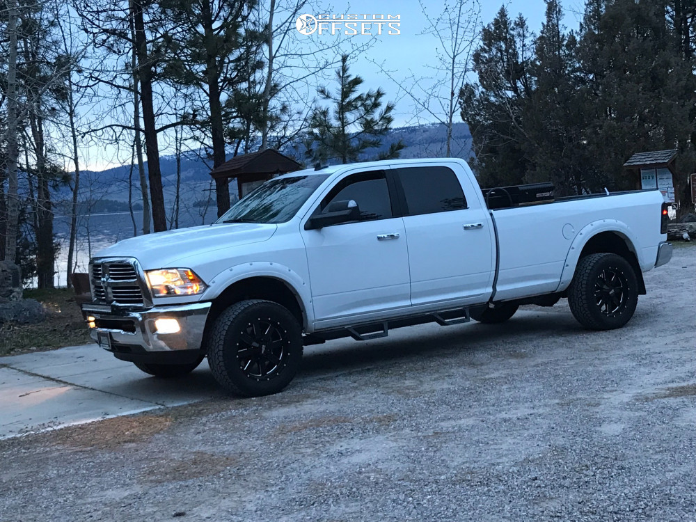 """2018 Ram 2500 Slightly Aggressive on 20x9 0 offset Moto Metal Mo962 and 35""""x12.5"""" Nitto Ridge Grappler on Stock Suspension - Custom Offsets Gallery"""