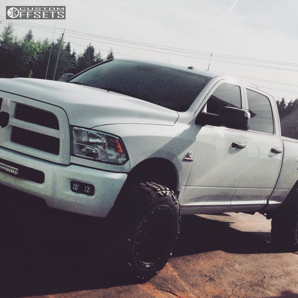 Wheel Offset 2014 Dodge Ram 2500 Super Aggressive 3 5 Leveling Kit 15 Fuel Hostage Black