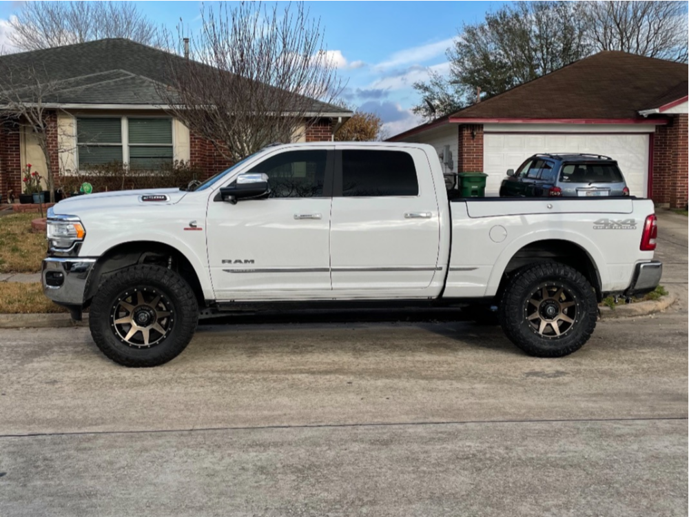 """2019 Ram 2500 Nearly Flush on 20x9 12 offset Icon Alloys Rebound and 37""""x12.5"""" Nitto Ridge Grappler on Leveling Kit - Custom Offsets Gallery"""