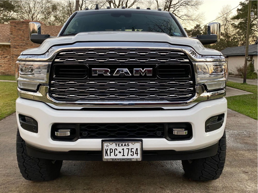 "2019 Ram 2500 Aggressive > 1"" outside fender on 20x9 0 offset Fuel Runner and 37""x12.5"" Nitto Ridge Grappler on Suspension Lift 4"" - Custom Offsets Gallery"