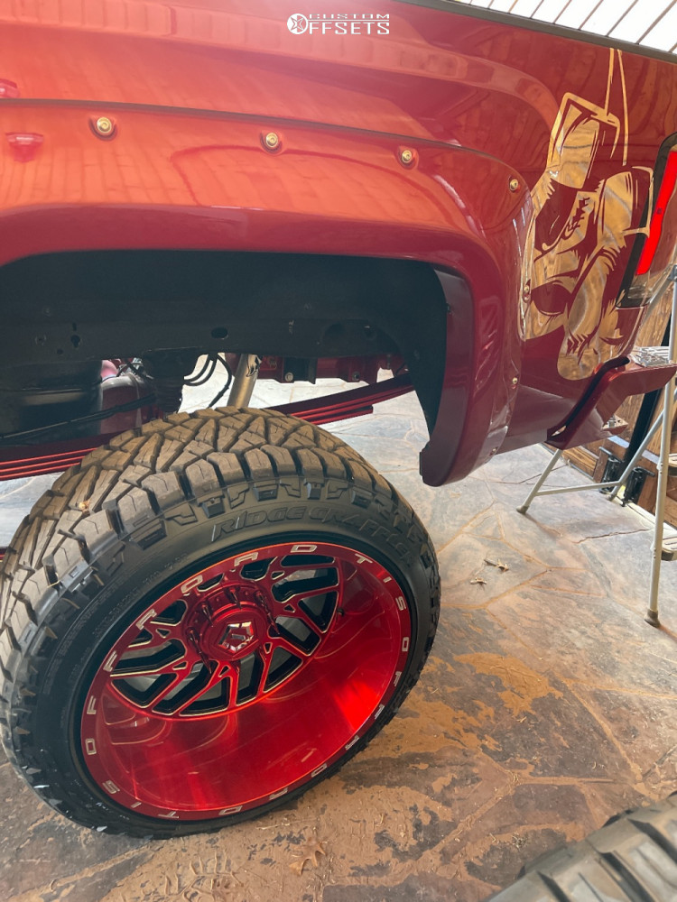 """2018 GMC Sierra 1500 Super Aggressive 3""""-5"""" on 22x14 -76 offset TIS 544rm and 33""""x12.5"""" Nitto Ridge Grappler on Suspension Lift 9"""" - Custom Offsets Gallery"""