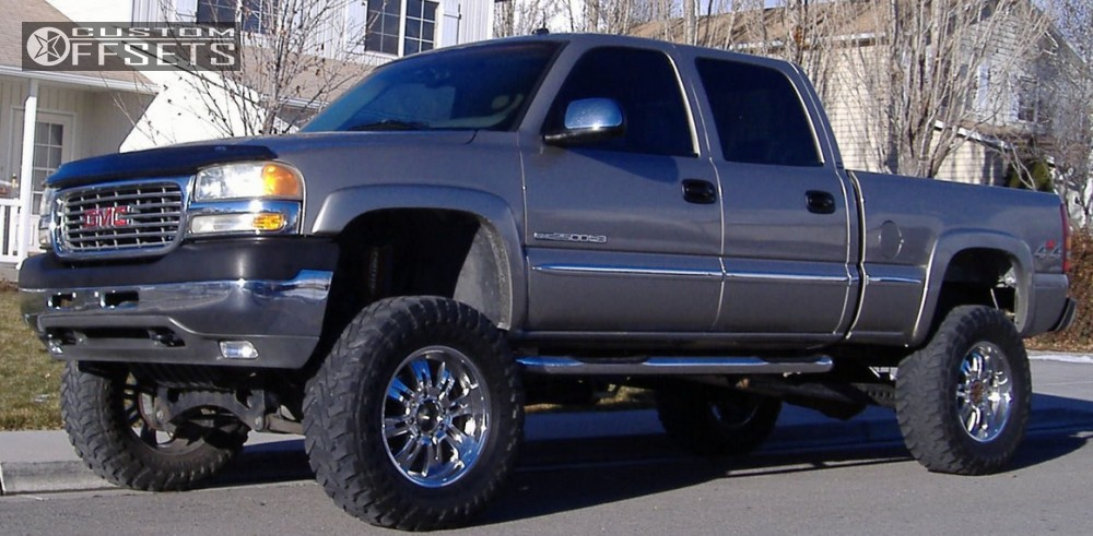 Wheel Offset 2002 Gmc Sierra 2500 Hd Aggressive 1 Outside