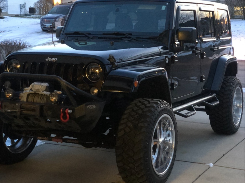 """2014 Jeep Wrangler JK Super Aggressive 3""""-5"""" on 22x12 -44 offset Dropstars Forged F60p1 and 35""""x12.5"""" Firestone Destination Mt2 on Suspension Lift 4"""" - Custom Offsets Gallery"""