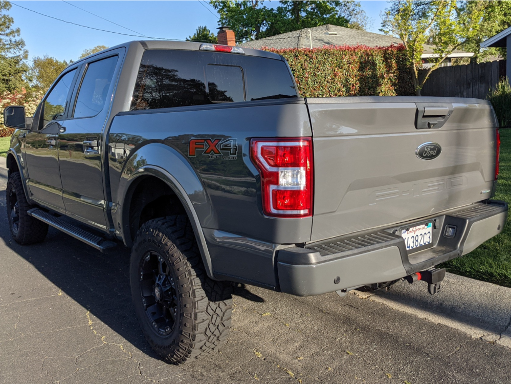 """2018 Ford F-150 Slightly Aggressive on 18x9 -12 offset Ballistic Morax and 35""""x11.5"""" Goodyear Wrangler Ats on Suspension Lift 4"""" - Custom Offsets Gallery"""