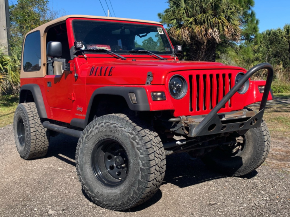 """2004 Jeep Wrangler Super Aggressive 3""""-5"""" on 15x10 -44 offset Pro Comp Series 97 and 33""""x12.5"""" Falken Wildpeak At3w on Suspension Lift 4"""" - Custom Offsets Gallery"""