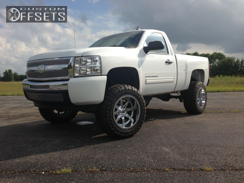 1 2011 Silverado 1500 Chevrolet Suspension Lift 9 Fuel Mavericks Silver Aggressive 1 Outside Fender