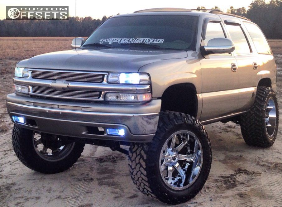 1 2002 Tahoe Chevrolet Suspension Lift 6 Fuel Nutz Chrome Super Aggressive 3 5