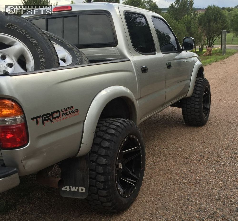 Wheel Offset 2004 Toyota Tacoma Super Aggressive 3 5 Suspension Lift 4 Truck Lifted Lrg 109 Black