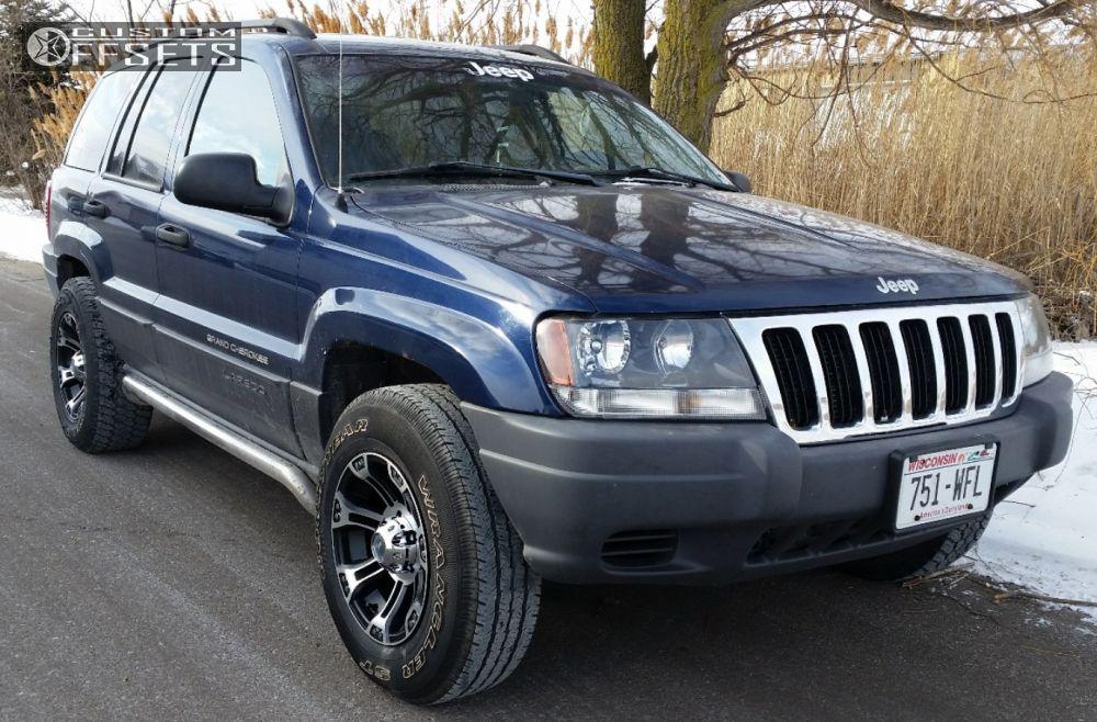 Awesome ... 1 2003 Grand Cherokee Jeep Stock Raceline Commando 903 Chrome Slightly  Aggressive ...
