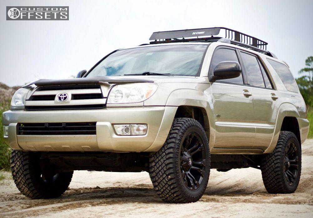 Superb ... 1 2004 4runner Toyota Suspension Lift 3 Fuel 560 Black Aggressive 1  Outside Fender ...
