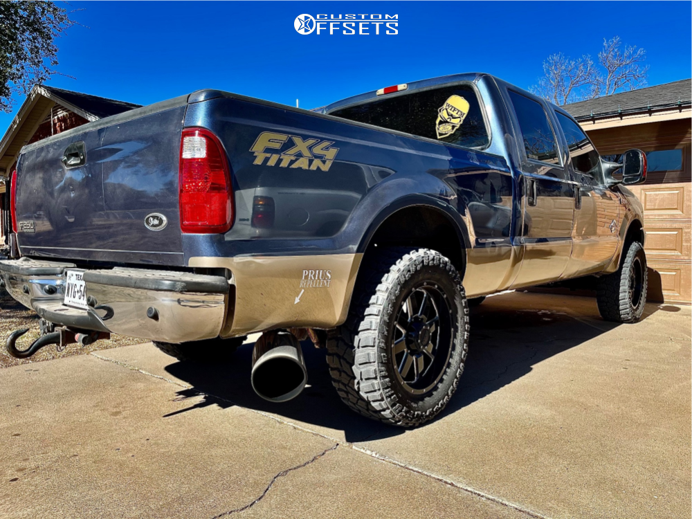 """2004 Ford F-250 Super Duty Aggressive > 1"""" outside fender on 20x10 -19 offset Gear Off-Road Big Block and 35""""x12.5"""" Cooper Discoverer Stt Pro on Leveling Kit - Custom Offsets Gallery"""
