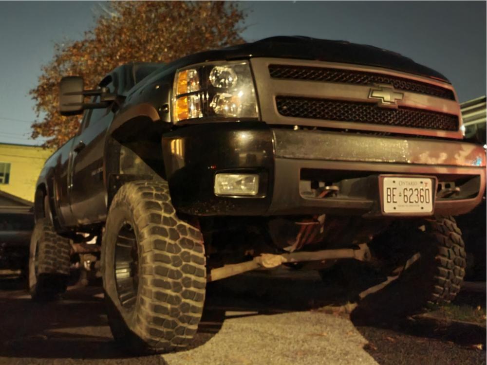 "2008 Chevrolet Silverado 1500 Super Aggressive 3""-5"" on 17x9 -12 offset Pro Comp 01 and 37""x12.5"" BFGoodrich Mud-terrain T/A KM3 on Suspension Lift 10"" - Custom Offsets Gallery"