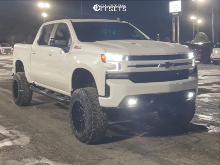 "2021 Chevrolet Silverado 1500 Super Aggressive 3""-5"" on 20x12 -44 offset Ion Alloy 141 and 35""x12.5"" Toyo Open Country R/t on Suspension Lift 8"" - Custom Offsets Gallery"