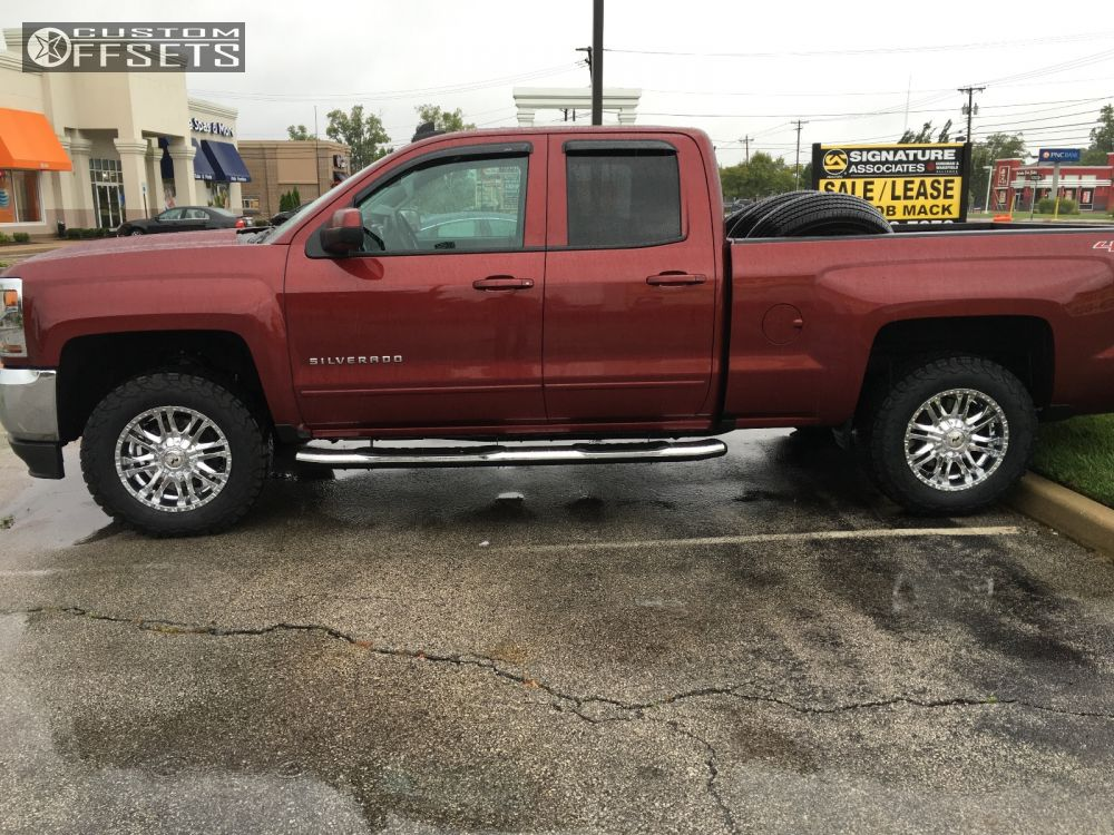 wheel offset 2016 chevrolet silverado 1500 flush leveling kit. Black Bedroom Furniture Sets. Home Design Ideas