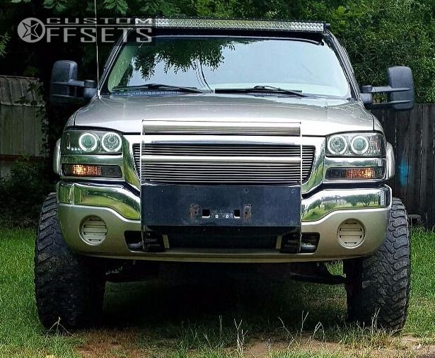 4 2003 Sierra 1500 Gmc Suspension Lift 6 Tis 535 Black Aggressive 1 Outside Fender