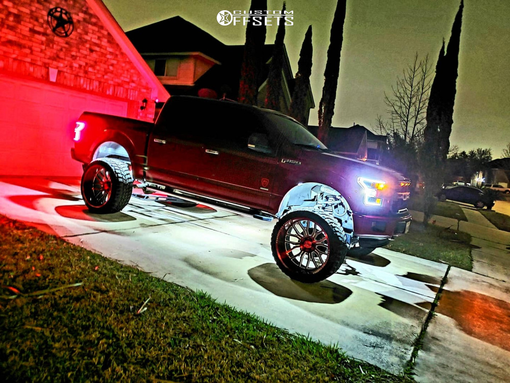 14 2015 F 150 Ford Readylift Suspension Lift 9in Axe Offroad Ax62 Red