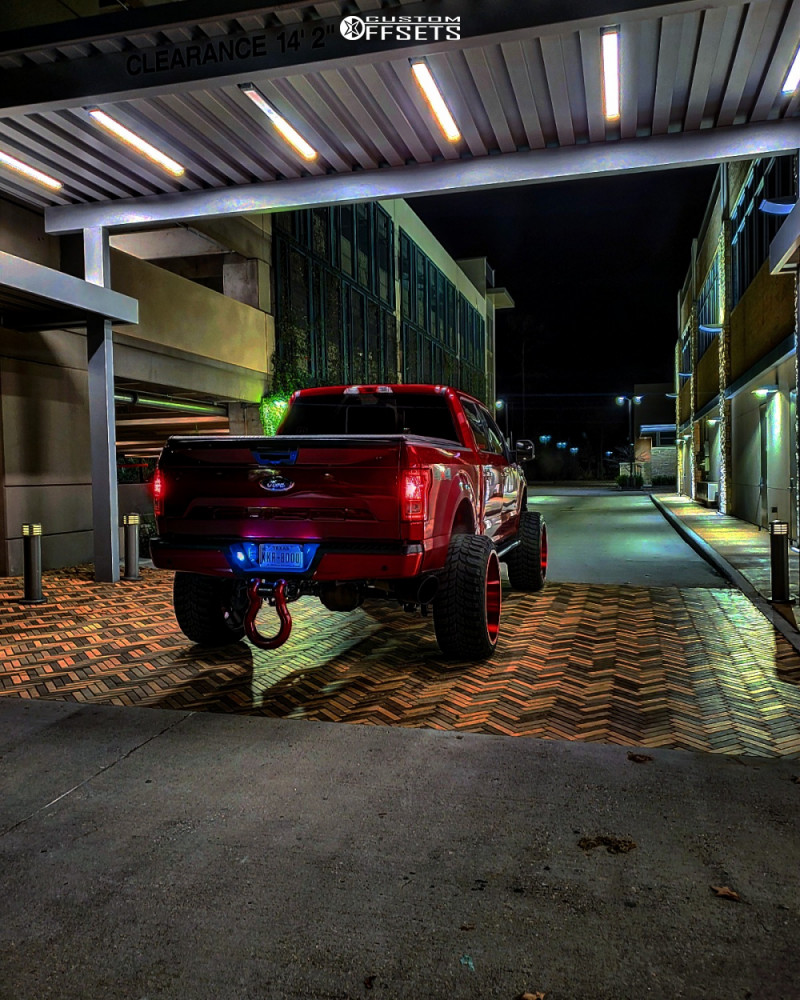 4 2015 F 150 Ford Readylift Suspension Lift 9in Axe Offroad Ax62 Red