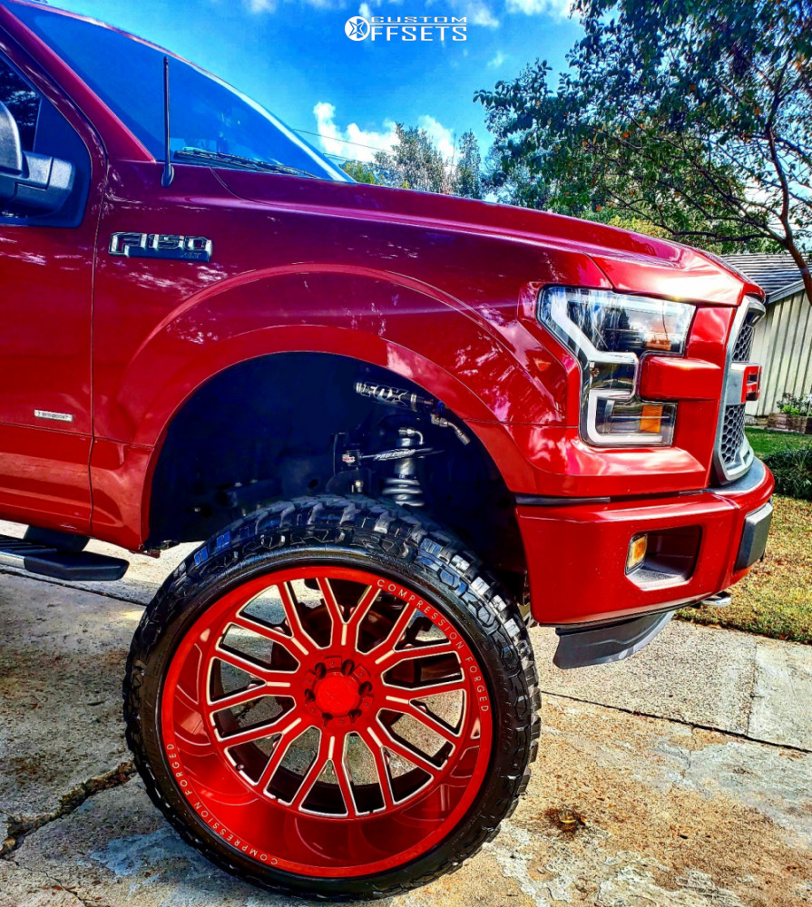 8 2015 F 150 Ford Readylift Suspension Lift 9in Axe Offroad Ax62 Red