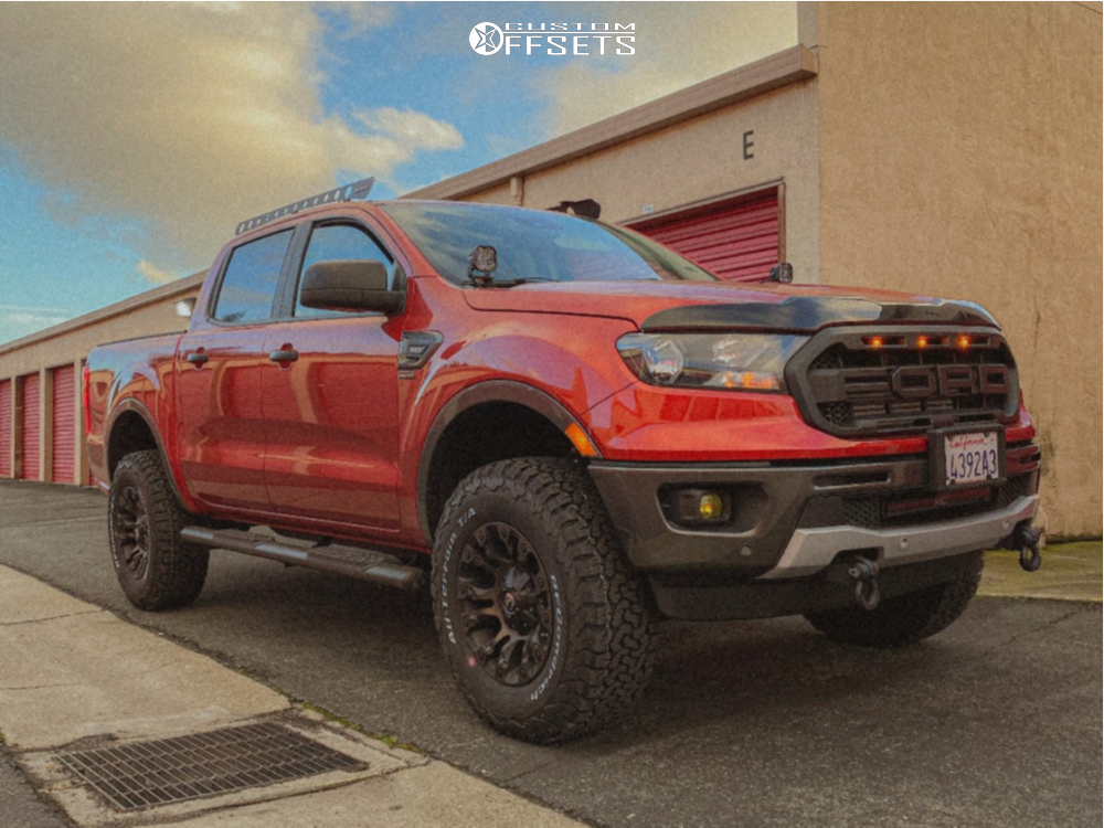 1 2019 Ranger Ford 3 Inch Level Suspension Lift 3in Fuel Vapor Machined Black