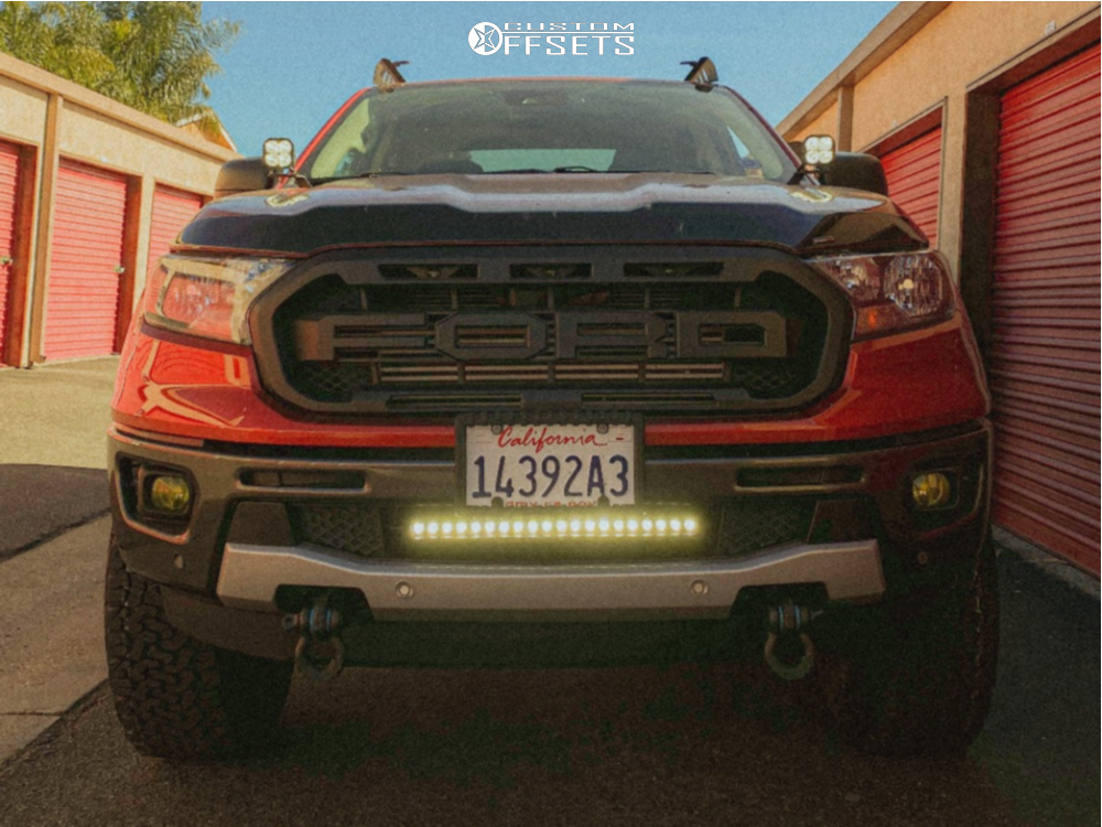 2 2019 Ranger Ford 3 Inch Level Suspension Lift 3in Fuel Vapor Machined Black