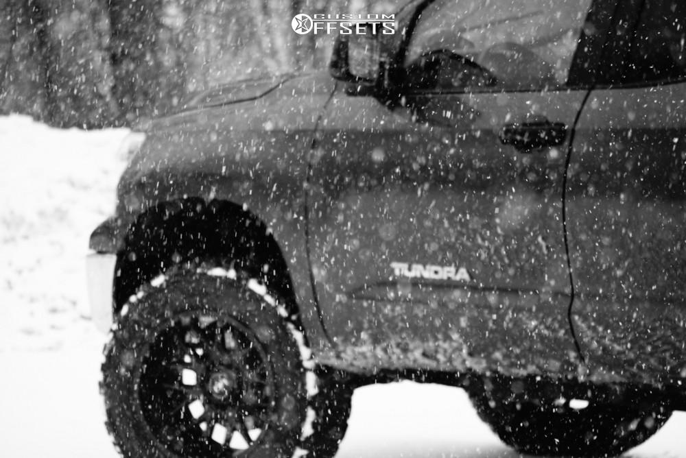 8 2010 Tundra Toyota Readylift Suspension Lift 4in Motiv Offroad Magnus Black