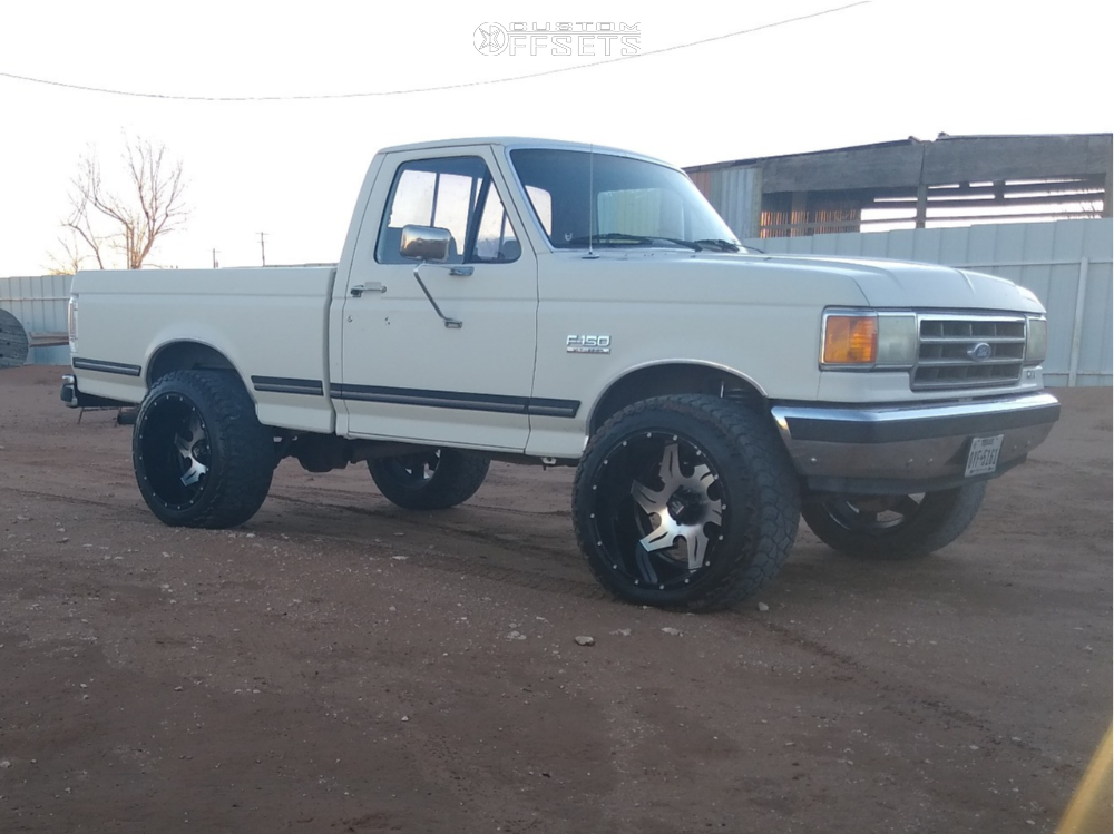 """1989 Ford F-150 Aggressive > 1"""" outside fender on 22x14 -76 offset American Truxx At163 and 35""""x12.5"""" Nitto Ridge Grappler on Suspension Lift 2.5"""" - Custom Offsets Gallery"""