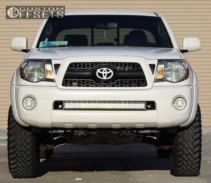 2 2009 Tacoma Toyota Suspension Lift 3 Moto Metal Mo970 Black Flush