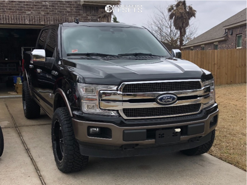 """2019 Ford F-150 Aggressive > 1"""" outside fender on 20x10 -19 offset Hostile Alpha and 275/60 Nitto Ridge Grappler on Air Suspension - Custom Offsets Gallery"""