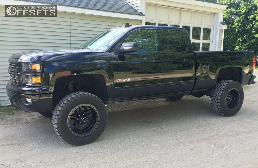 2 2015 Silverado 1500 Chevrolet Suspension Lift 75 Fuel Anza Black Super Aggressive 3 5