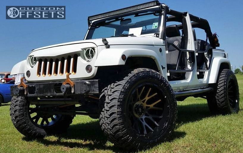 1 2014 Wrangler Jeep Suspension Lift 35 V Rock Recoil Black Super Aggressive 3 5