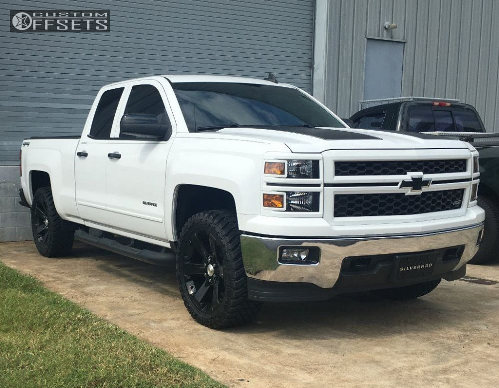 wheel offset 2015 chevrolet silverado 1500 slightly. Black Bedroom Furniture Sets. Home Design Ideas