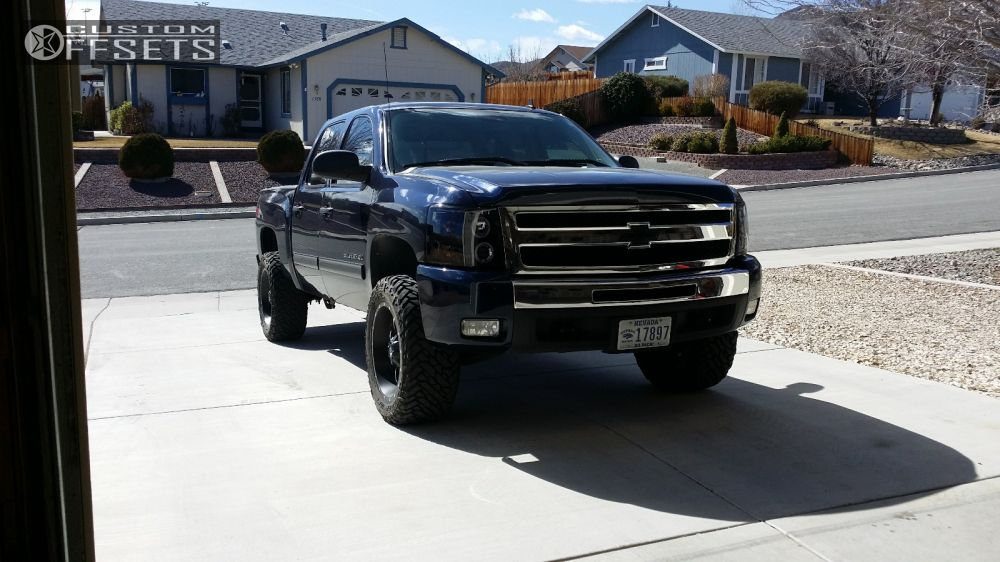1 2011 Silverado 1500 Chevrolet Suspension Lift 4 Fuel Revolver Black Aggressive 1 Outside Fender
