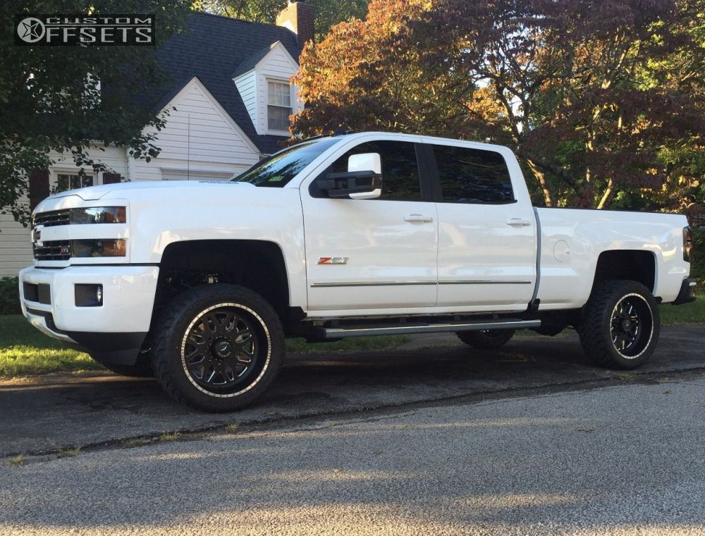 4 2016 Silverado 2500 Hd Chevrolet Leveling Kit American Force Unknown Machined Black Aggressive 1 Outside Fender