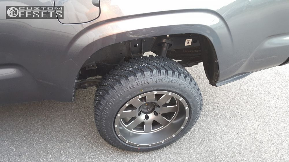 wheel offset 2016 toyota tacoma aggressive 1 outside fender stock