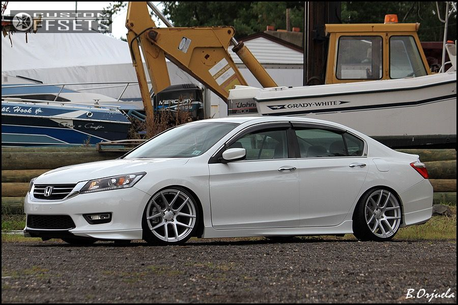 2014 honda accord velgen wheels vmb5 megan racing lowered adj coil overs. Black Bedroom Furniture Sets. Home Design Ideas