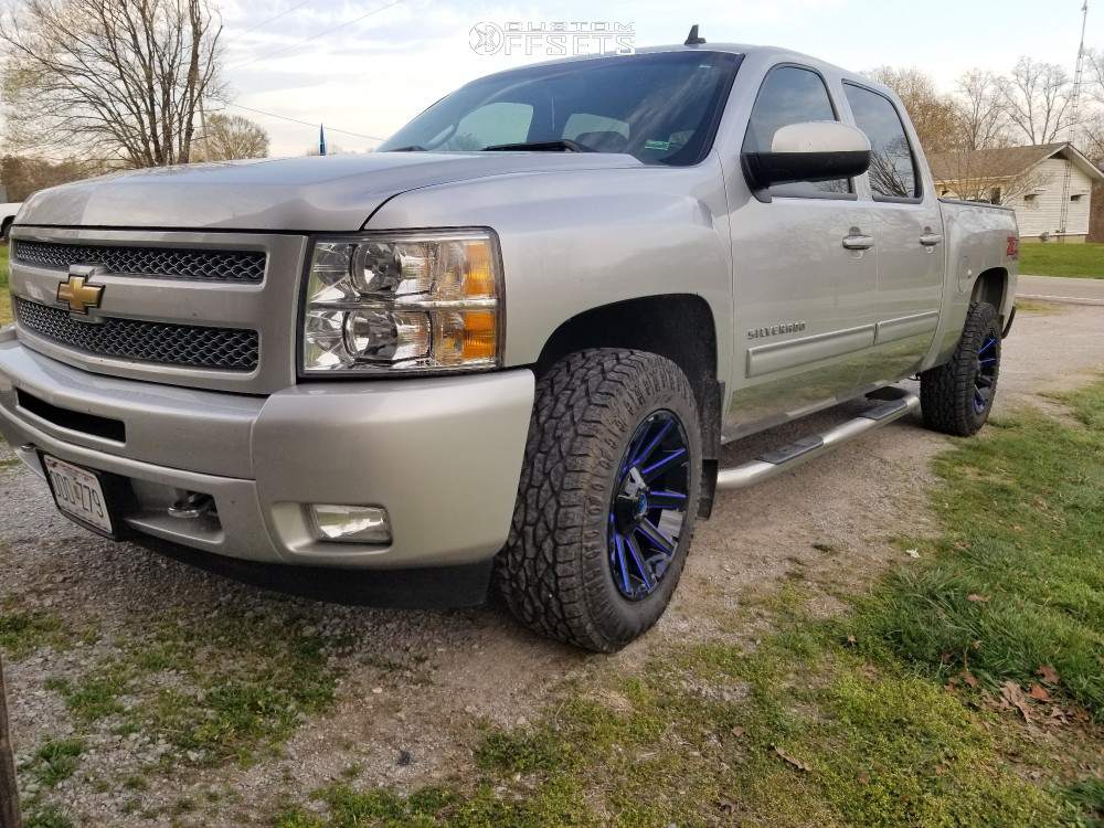 "2011 Chevrolet Silverado 1500 Aggressive > 1"" outside fender on 18x9 -12 offset Fuel Contra and 265/65 Atturo Trail Blade ATS on Stock Suspension - Custom Offsets Gallery"