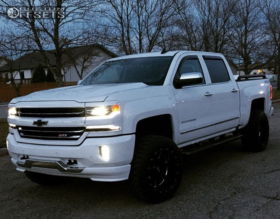 1 2017 Silverado 1500 Chevrolet Suspension Lift 4 Moto Metal 962 Machined Accents Super Aggressive 3