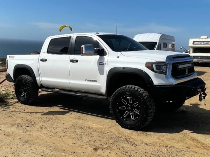 """2014 Toyota Tundra Aggressive > 1"""" outside fender on 20x12 -44 offset LRG 117 and 37""""x12.5"""" Cooper Discoverer STT Pro on Suspension Lift 6"""" - Custom Offsets Gallery"""