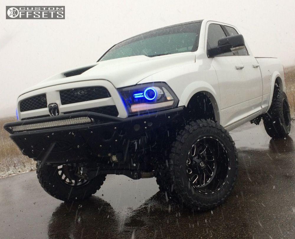 2013 Ram 1500 Fuel Triton Zone Suspension Lift 6in Dodge Toyo At2 10 6 Machined Black Super Aggressive 3 5