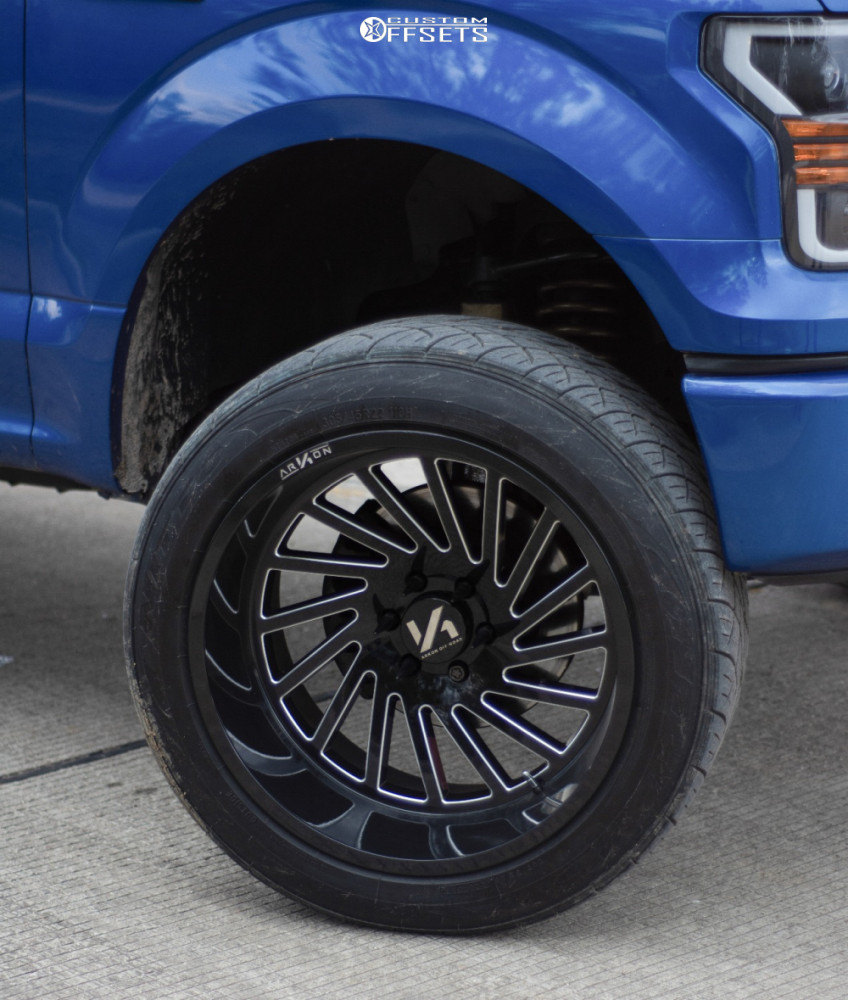 """2017 Ford F-150 Super Aggressive 3""""-5"""" on 22x12 -51 offset ARKON OFF-ROAD Caesar and 305/55 Nitto Nt420s on Suspension Lift 5"""" - Custom Offsets Gallery"""