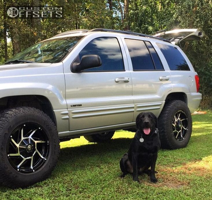 Jeep Leveling Kit >> Wheel Offset 2003 Jeep Grand Cherokee Aggressive 1 Outside Fender