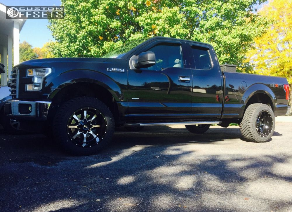 Ford F150 Wheels And Tires >> 2015 Ford F 150 Moto Metal Mo970 Rough Country Leveling Kit